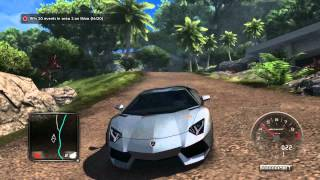getlinkyoutube.com-Test Drive Unlimited 2 Lamborghini Aventador Test Drive