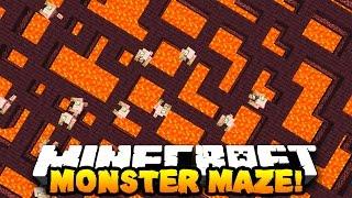 getlinkyoutube.com-Minecraft MONSTER MAZE (RUN FROM HOSTILE MOBS!) | w/ PrestonPlayz & LandonMC