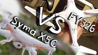getlinkyoutube.com-COMPARACIÓN SYMA X5C VS FY 326 EN ESPAÑOL: ¿los mejores drones en 2015 de iniciación?