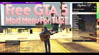"getlinkyoutube.com-GTA 5 Online *FREE* ""MOD MENU!"" TU27 (GTA 5 MOD MENU) ""SkyAcro v5.5"" Showcase + Download!"