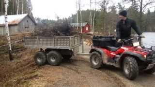 getlinkyoutube.com-Honda Foreman With rv4000 trailer