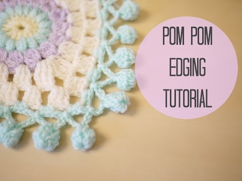CROCHET: Pom pom edging | Bella Coco
