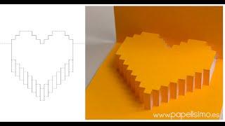 """getlinkyoutube.com-Tarjeta de corazón 3D """"pop-up"""" (Regalos con manualidades de San Valentín)"""