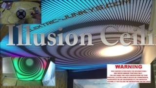getlinkyoutube.com-3D Ceiling Infinity LED DIY Stretch Ceiling 3D illusion Roof Typhoon piso ilusión by elektric-junkys