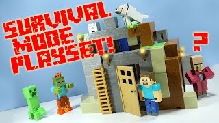 getlinkyoutube.com-Minecraft Survival Mode Playset from Mattel Toys Huge!
