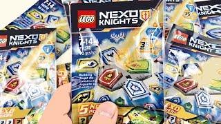 getlinkyoutube.com-LEGO Nexo Knights Blind Bags Opening! 30 Nexo Powers!