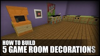 getlinkyoutube.com-5 Game Room Decorations In Minecraft