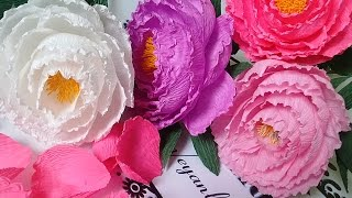 getlinkyoutube.com-Peony paper flower -  Hướng dẫn làm hoa mẫu đơn từ giấy nhún