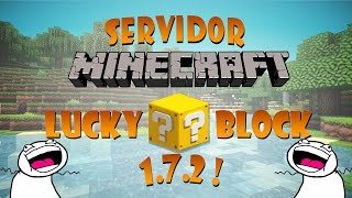 getlinkyoutube.com-Servidor Minecraft - MiniGames + LUCKY BLOCK 1.7.2 / 1.8 - Pirata / Original [2016]HD