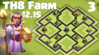 getlinkyoutube.com-Best TH8 Farming Base - Anti Everything - Clash of Clans - 2015 Dec Update