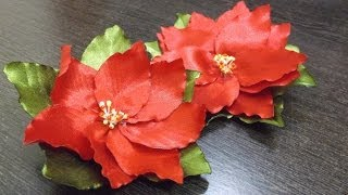 getlinkyoutube.com-D.I.Y. Satin Ribbon Poinsettia Flower Tutorial | MyInDulzens