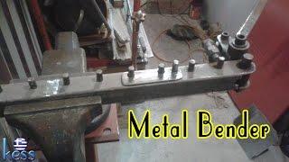 getlinkyoutube.com-DIY Metal Bender for bending reinforcing steel, rod, round, flat, square, bars. Κουρμπαδόρος