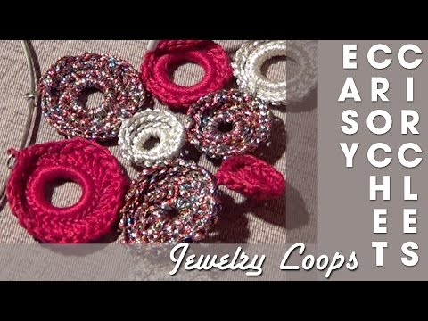 Crochet Jewelry Circles or Loops