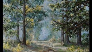 "getlinkyoutube.com-Пишем пейзаж ""Наедине""/Oil painting tutorial ""Alone with Nature"" - Artist Otto Steinach"