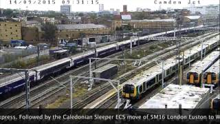 getlinkyoutube.com-46233 Duchess of Sutherland - Camden Junction Cam 14th September 2015.