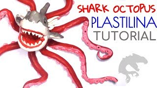 Como hacer un tiburon pulpo de Plastilina / How to make a shark octopus with clay
