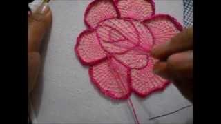 getlinkyoutube.com-Puntada fantasia rosa # 3