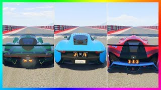 GTA 5 DLC NEW FASTEST SUPER CAR IN GTA ONLINE! - BEST SUPER CARS SPEED TEST COMPARISON VS NEW CARS!