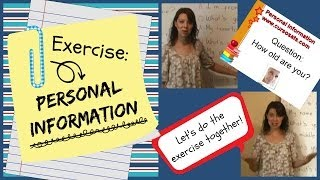 getlinkyoutube.com-Exercise - Personal Information