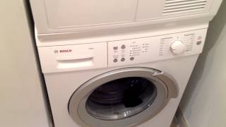 BOSH AXXIS Washer Machine Insane Brutal Spinning Sounds Like A Jet Plane