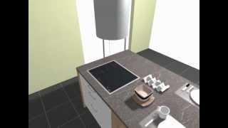 schüller einbauküche c2 modell nova gloss brillantweiß - youtube