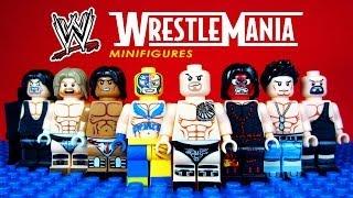 getlinkyoutube.com-LEGO WWE Wrestle Mania KnockOff Minifigures World Wrestling Entertainment