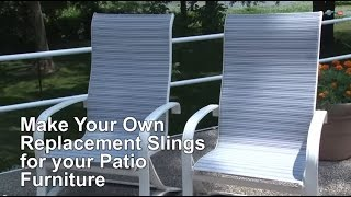getlinkyoutube.com-Replacement Sling Cover for Patio Furniture -- Make Your Own