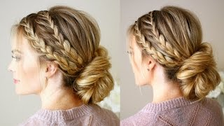 getlinkyoutube.com-Triple Braided Updo | Missy Sue