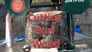Cutting Massive Burl On The Mill