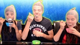 getlinkyoutube.com-Reto: Comiendo Helado Con Medias En La Cabeza | The Pantyhose And Icecream Challenge.