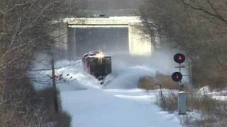getlinkyoutube.com-Railroad snow plow