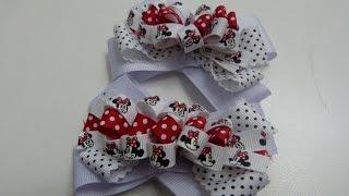 getlinkyoutube.com-Diy  moños o lazos pares pequeños para decorar el cabello de las Niñas-