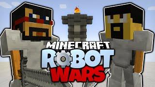 getlinkyoutube.com-Minecraft | CAPTAINSPARKLEZ VS ANTVENOM | WORKING ROBOTS! Minecraft Robot Wars (Minecraft Redstone)