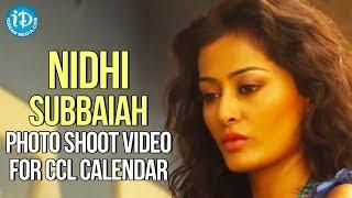 getlinkyoutube.com-Nidhi Subbaiah Latest Hot Bikini Photo Shoot Video For CCL Calendar