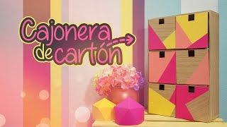 getlinkyoutube.com-DIY: CAJONERA de CARTÓN