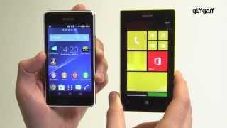 getlinkyoutube.com-Sony Xperia E1 vs Nokia Lumia 520   giffgaff