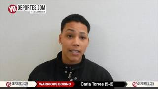 Carla Torres vs Jessica McCaskill Warriors Boxing weight in