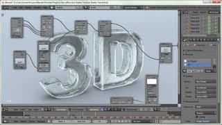 getlinkyoutube.com-Blender Tutorial: Ice Crack and Shatter Text Effect