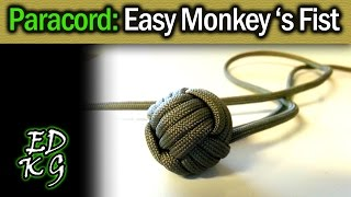 getlinkyoutube.com-Simple Paracord: Monkey's Fist (EASY 4 pass version)