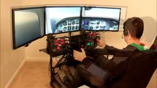 getlinkyoutube.com-Volair Sim Flight Simulator Cockpit  - IFR Flight with PilotEdge.net