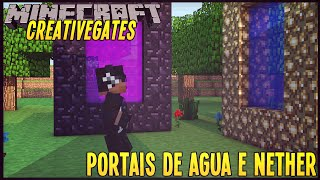 getlinkyoutube.com-[Plugins] CreativeGates Portais de Agua e Nether