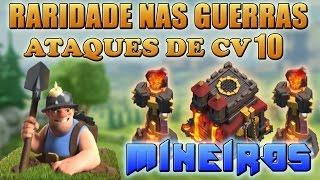 getlinkyoutube.com-War Ataques PT CV10 com Mineiros!!! Raridade no Clash!!!