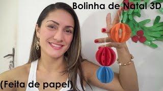 getlinkyoutube.com-Bolinha de Natal 3D (Feita de papel)