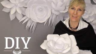 getlinkyoutube.com-DIY: Große Papierblüten-Wand aus Kopierpapier selber machen | Deko Kitchen