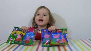 getlinkyoutube.com-Свинка Пеппа Пиг пакетики с игрушками сюрприз открываем игрушки Peppa Pig surprise blind bags toys