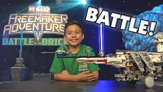getlinkyoutube.com-BATTLE of the BRICKS!!! LEGO Star Wars: The Freemaker Adventures Challenge! Disney XD