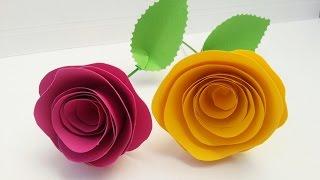 getlinkyoutube.com-TUTORIAL: ROSE di CARTA (San Valentino, Festa della Mamma, dolci ricorrenze..)