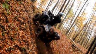 getlinkyoutube.com-Kawasaki Brute Force 750 vs Yamaha Grizzly 700 drapki atv ride
