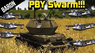 getlinkyoutube.com-War Thunder Flak Attack - PBY Skywhale Swarm vs German Flak!