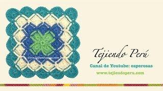 getlinkyoutube.com-Cómo tejer bavarian crochet en cuadrado y rectángulo
